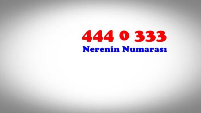 4440333 4440335 nerenin numarasi kim