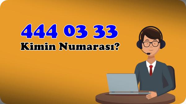 4440333 nerenin numarasi neye arar